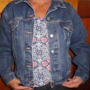 Retro Vintage Levis Denim Jean Jacket Sz L